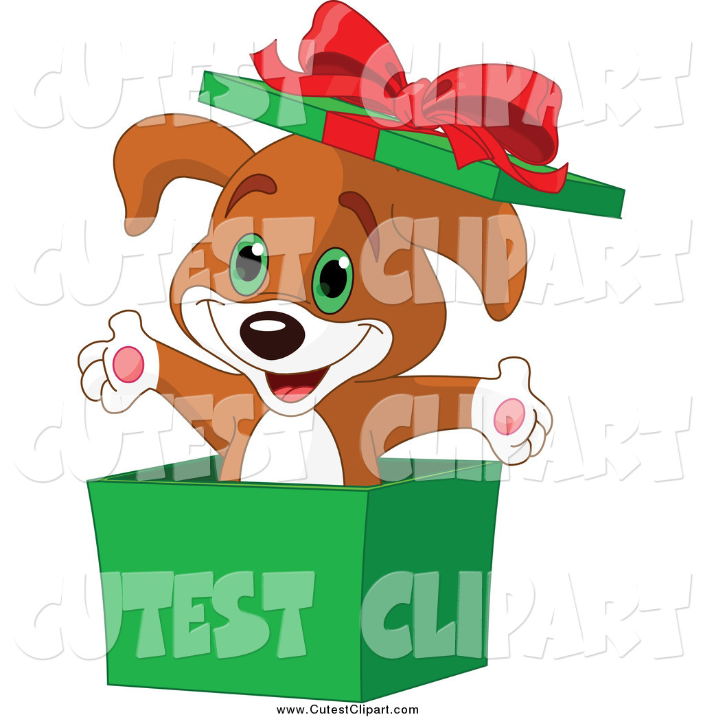1024x1044 Vector Cliprt Surprise Christmas Puppy Popping Out
