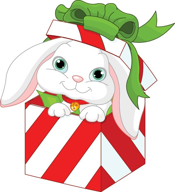 Christmas Present Cartoon Clipart