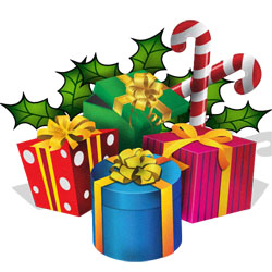 250x250 Clipart Christmas Presents Ribbons