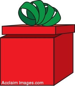 263x300 Clipart Of An Christmas Present With The Lid Open