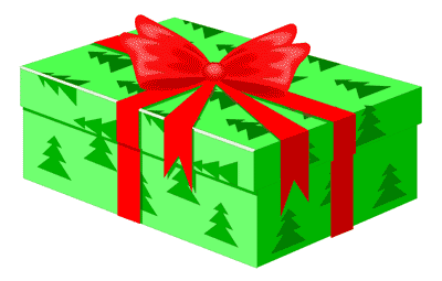 400x255 Christmas Gift Clipart