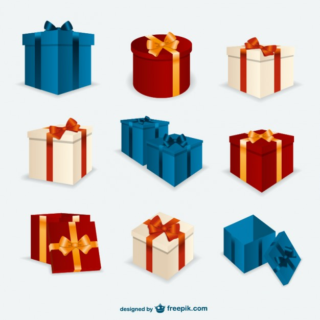 626x626 Christmas Present Boxes Pack Vector Free Download