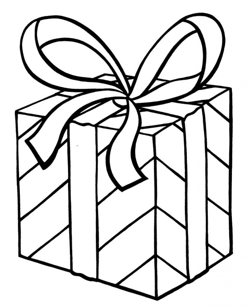841x1024 My Christmas Present Coloring Page Arts Amp Crafts Gift Templates