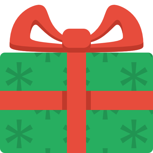 512x512 Christmas Present Clipart