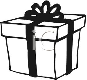 300x275 Christmas Present Clipart Black And White Clipart Panda