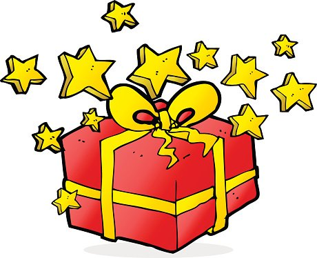 460x374 Cartoon Christmas Present Premium Clipart