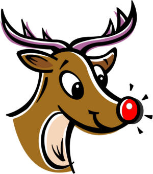300x340 Rudolph Christmas Clipart