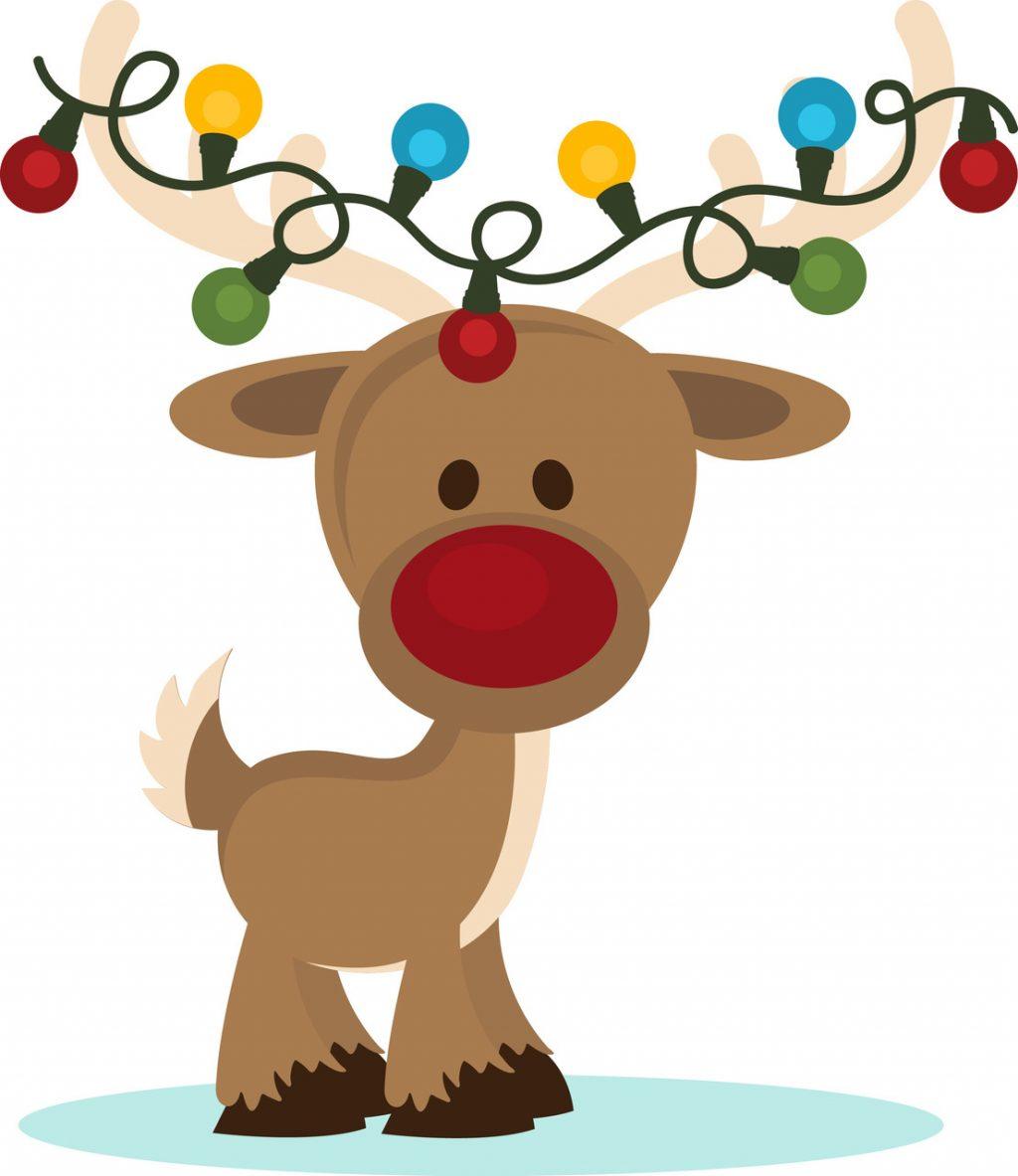 1024x1183 Christmas ~ Christmas Reindeer Clipart Stunning Lights Vector Free