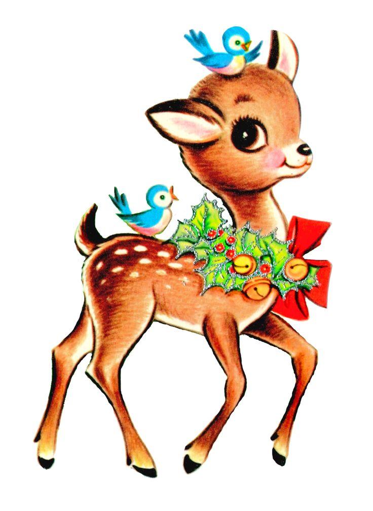 736x1009 Deer Reindeer Clip Art Merry Christmas Amp Happy New Year Arts