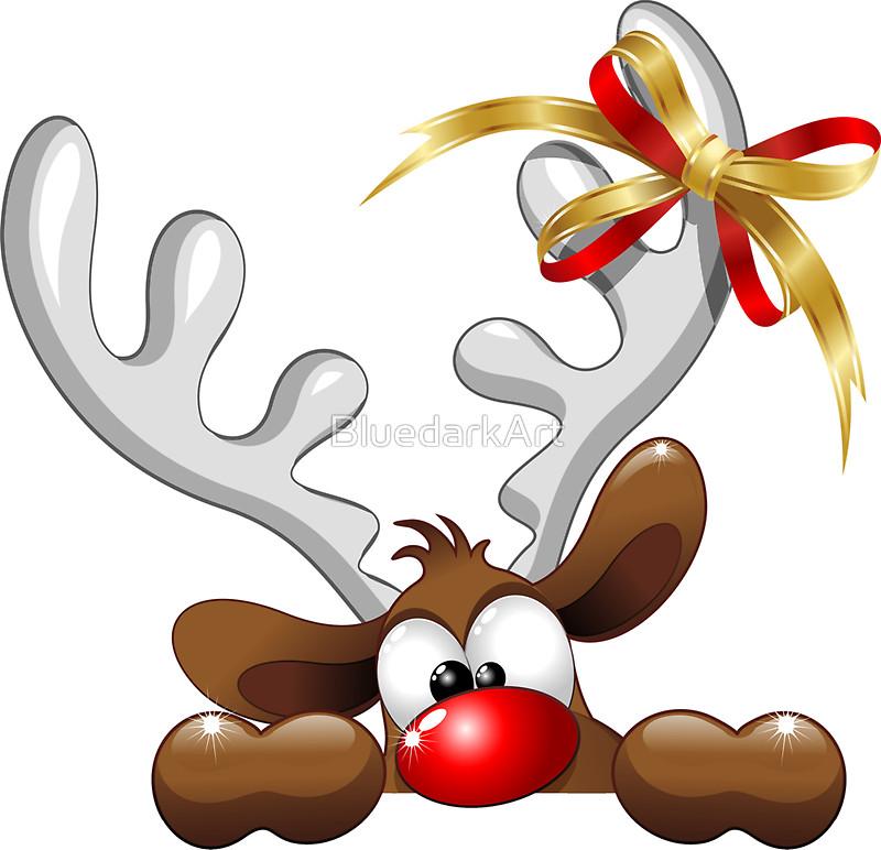 800x772 Funny Reindeer Clipart