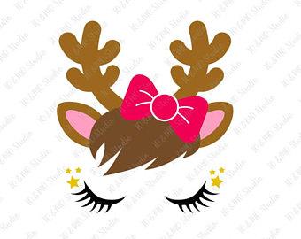 340x270 Rudolph Christmas Reindeer Svg Reindeer Face Svg Reindeer