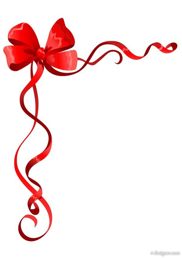 595x842 ribbon borders new year clip art merry christmas amp happy new