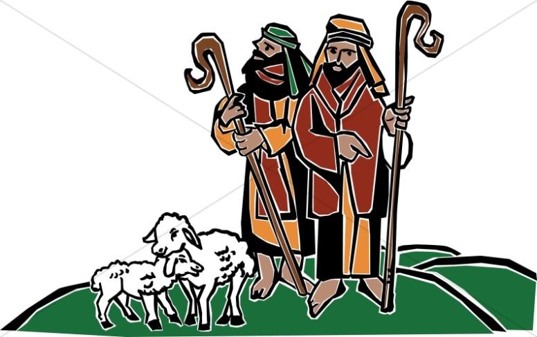 Nativity shepherds. Christmas shepherd clipart free