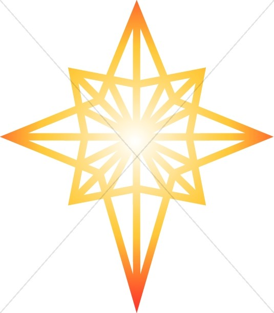 535x612 Glow Clipart Christmas Star