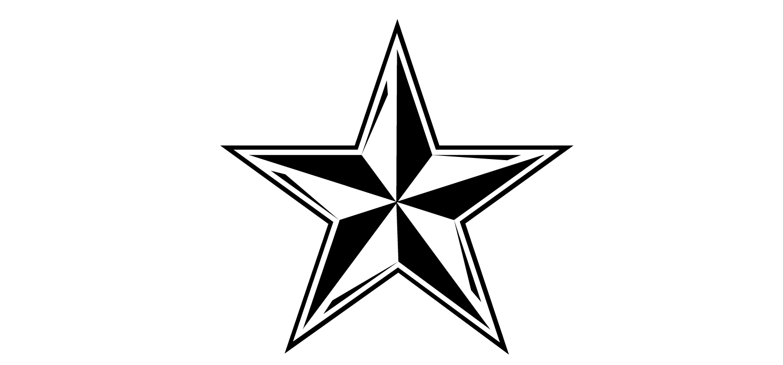 1500x700 Christmas Star Outline Clipart
