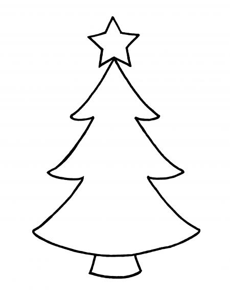 450x581 Christmas Tree Outline Clip Art