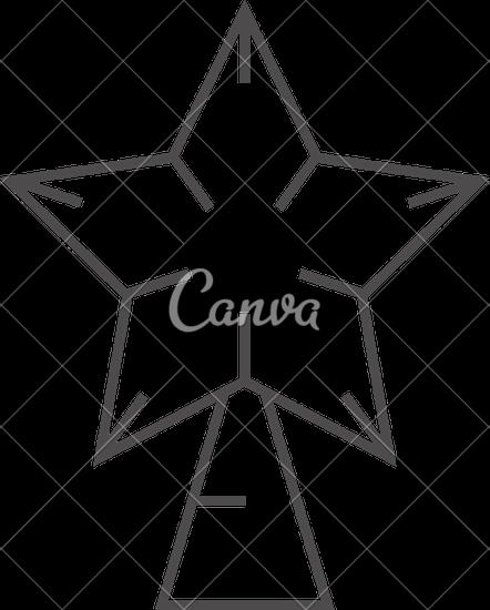 442x550 Christmas Tree Star Outline