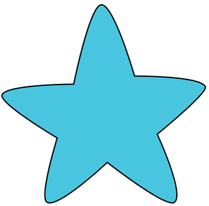 300x295 Free Star Clipart Image