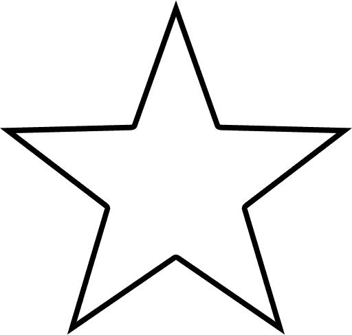 512x488 Outline Star Clipart Panda