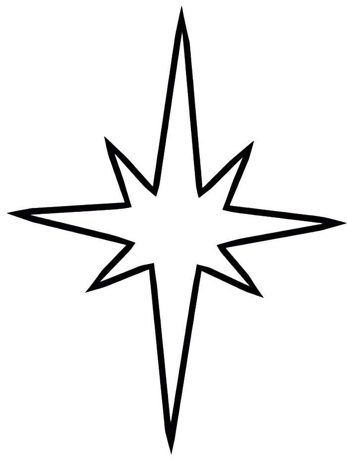 700x949 Best Photos Of Christmas Star Coloring Page Black Star Outline