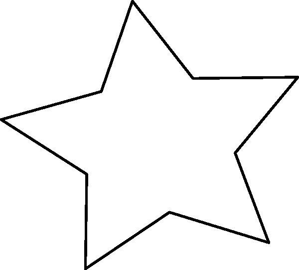 600x542 Black Outline Star Clip Art
