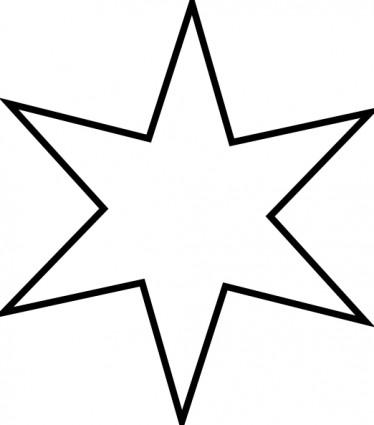 374x425 Christmas Star Clip Art Outline Clipart Panda