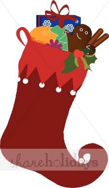 225x388 Red Stocking Clipart Christmas Stocking Clipart