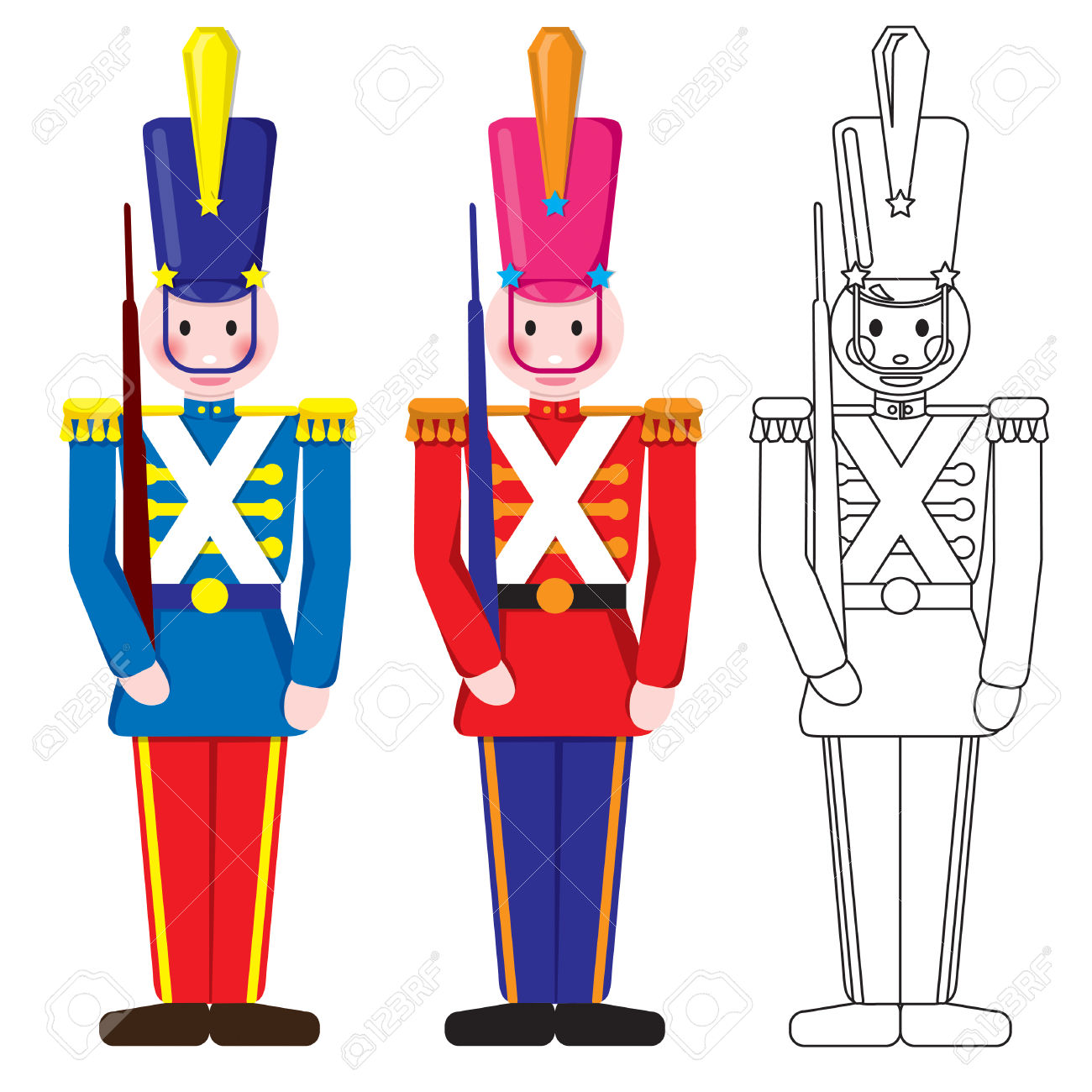 1300x1300 Christmas Toy Soldier Clip Art Clipart