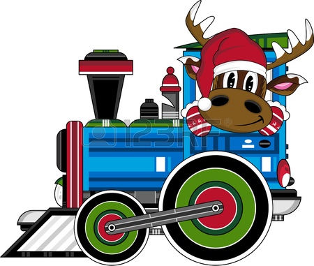 450x381 1,079 Christmas Train Cliparts, Stock Vector And Royalty Free