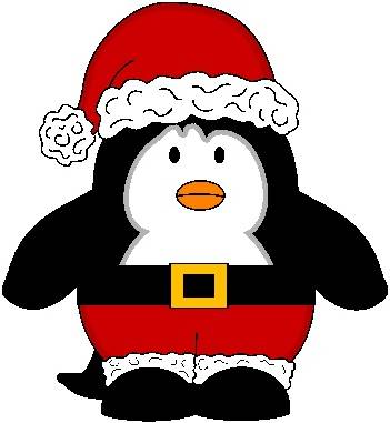 351x381 Christmas Penguin Clipart