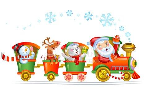 465x300 Christmas Train Premium Clipart