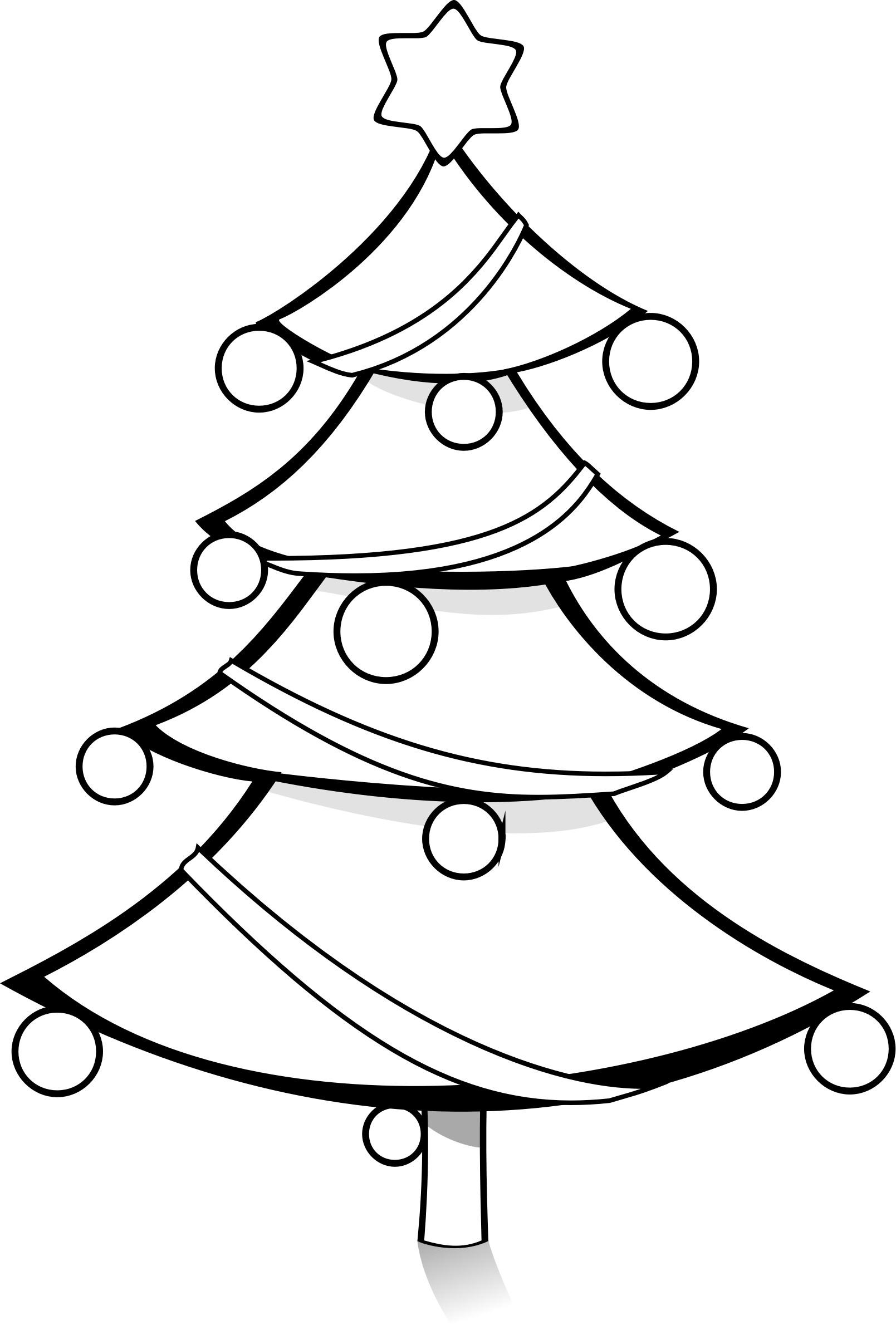 1609x2380 Christmas Tree Black And White Xmas Clipart 2