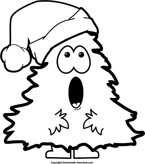 502x570 Christmas tree black and white free christmas tree clipart 4