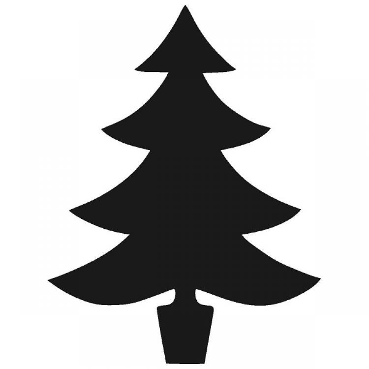 750x750 Silhouette Christmas Tree Clip Art – Merry Christmas amp Happy New