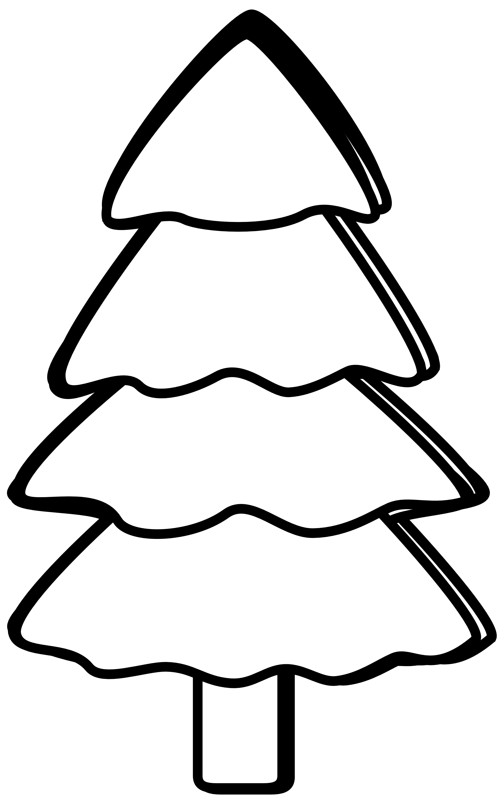 1979x3210 Best Christmas Tree Clipart Black And White