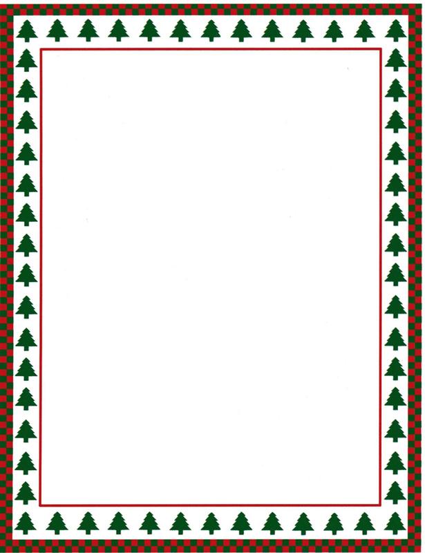615x800 Christmas Tree Border