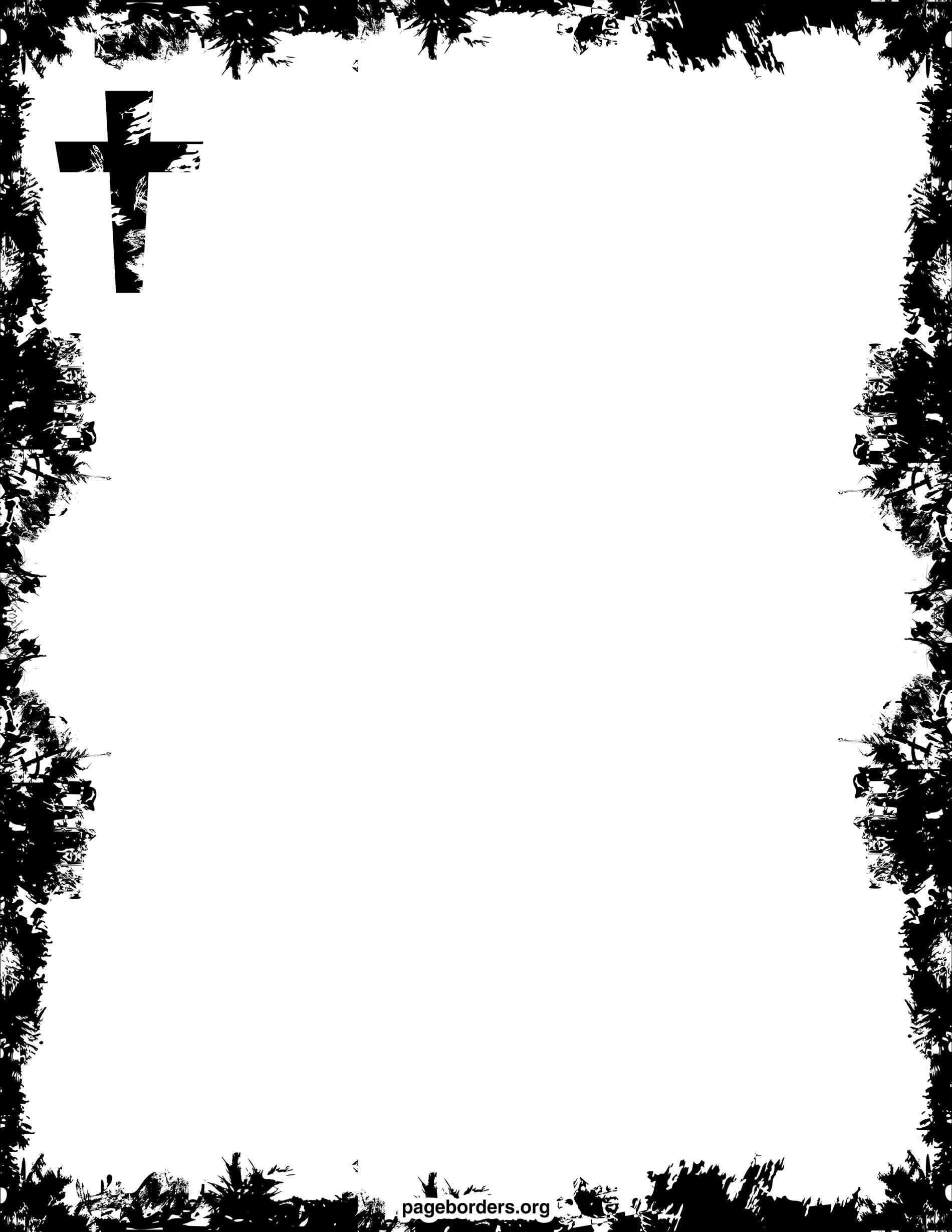 1900x2458 Christmas Tree Page Border Cheminee.website