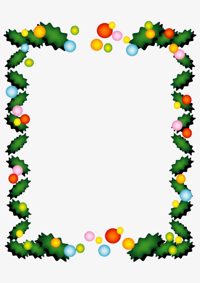 650x920 Christmas Border, Christmas Tree, Ball, Rectangle Png Image