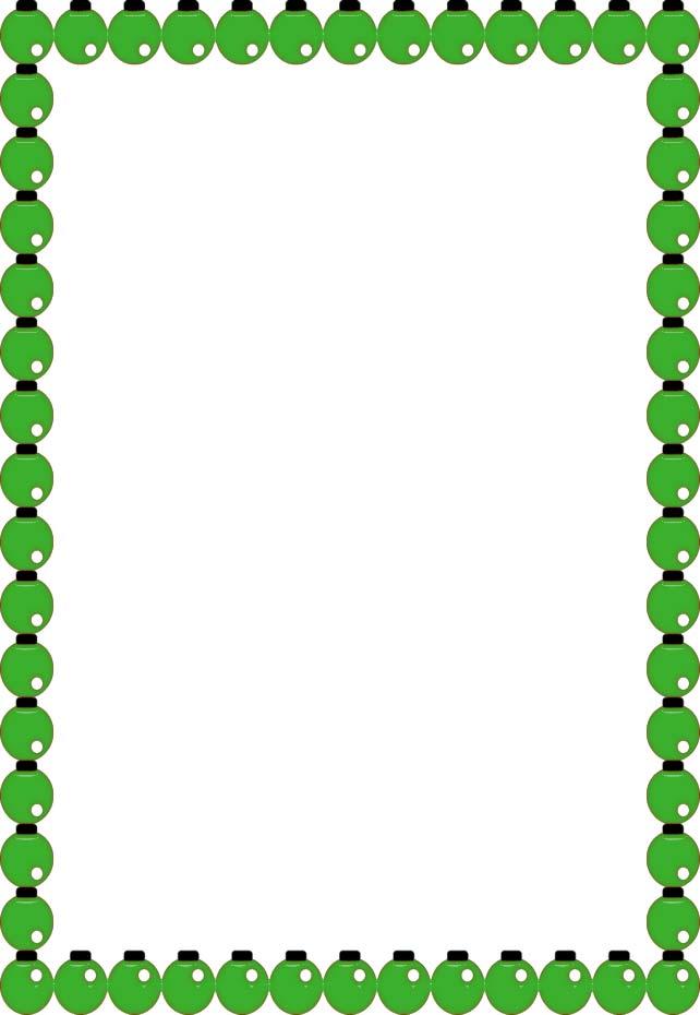 642x930 Christmas Tree Border Clipart