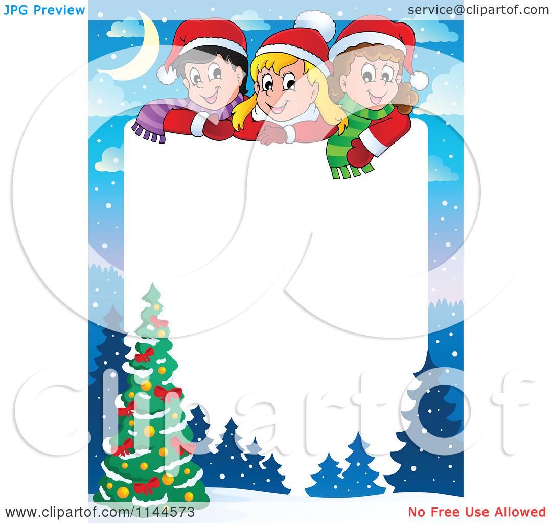 1080x1024 Free Christmas Tree Clip Art Borders Clipart Panda