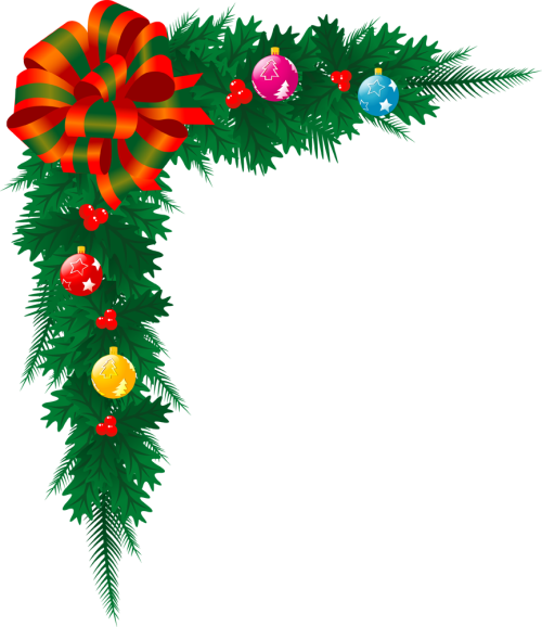 500x578 Free Christmas Tree Border Clipart
