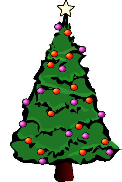 402x599 Happy Christmas Tree Clipart