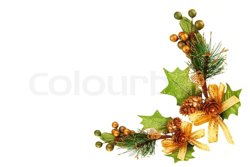 800x536 Holiday Frame Border With Christmas Tree Branch Ornamentas Winter
