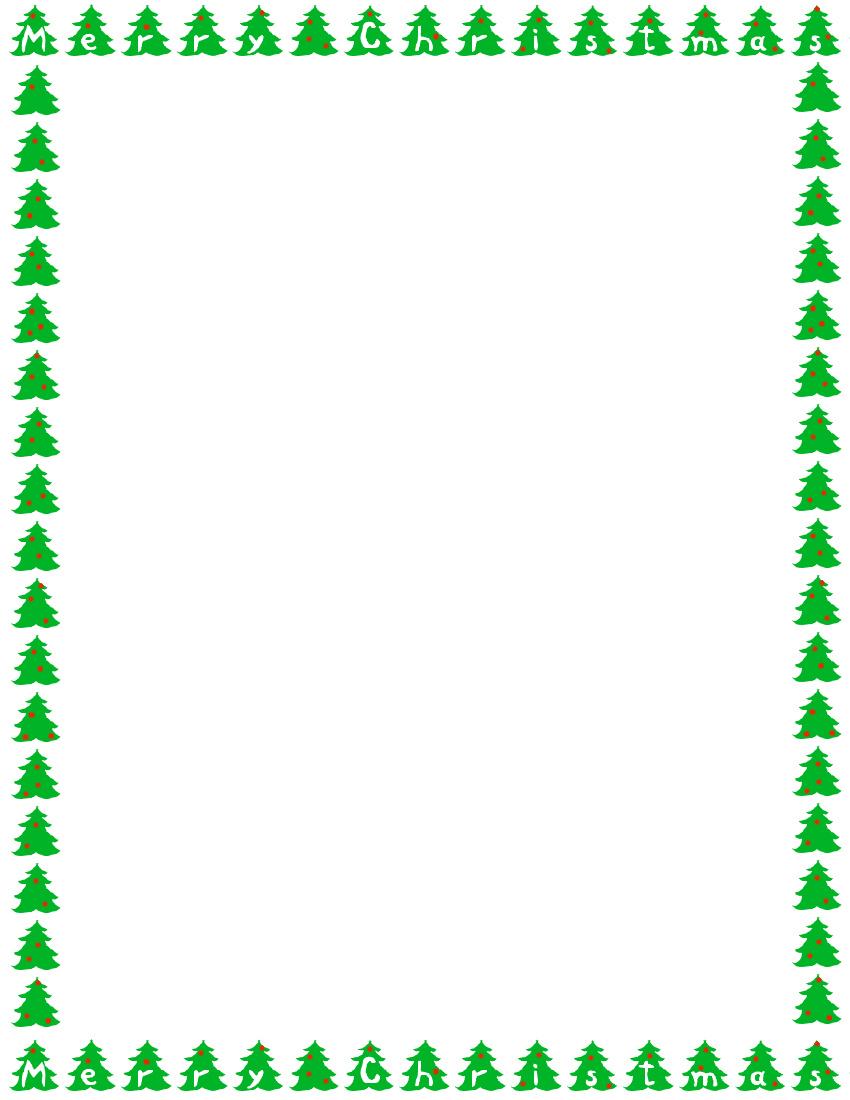850x1100 Tree Border Clipart Free