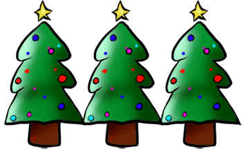 350x216 Christmas Tree Clip Art Borders Happy Holidays!