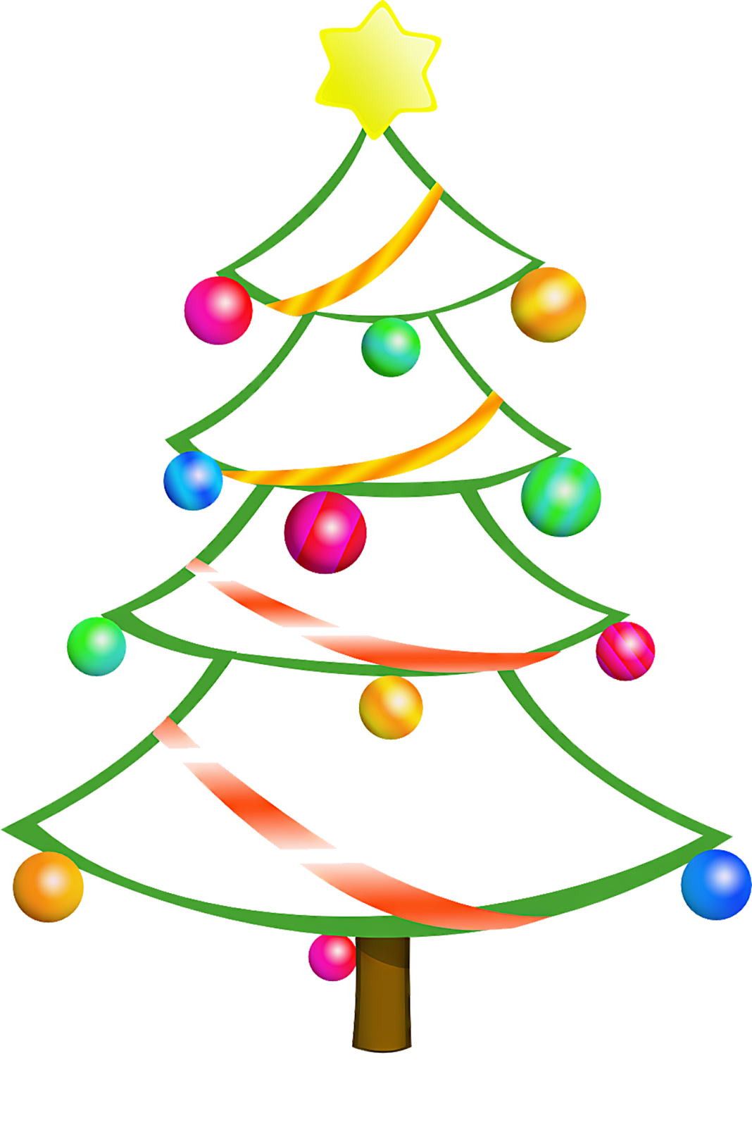 1068x1600 Christmas Tree Border Clipart Free Images