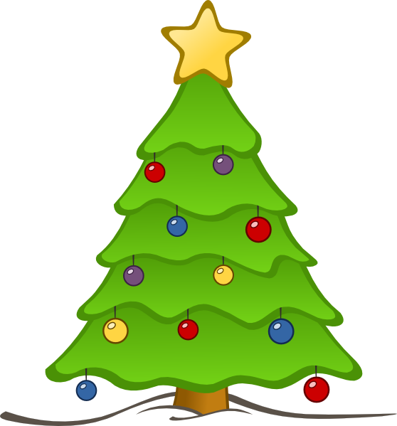 558x599 Free Christmas Tree Clip Art Borders Free
