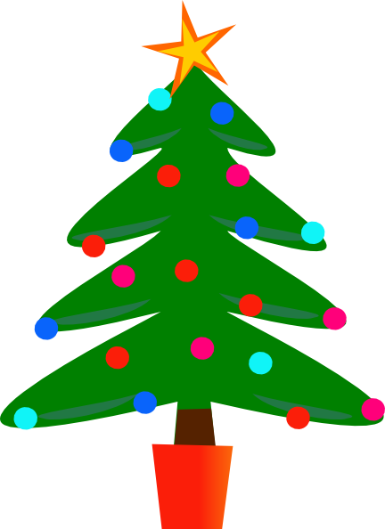 432x594 Free Christmas Tree Clip Art Borders Free 2