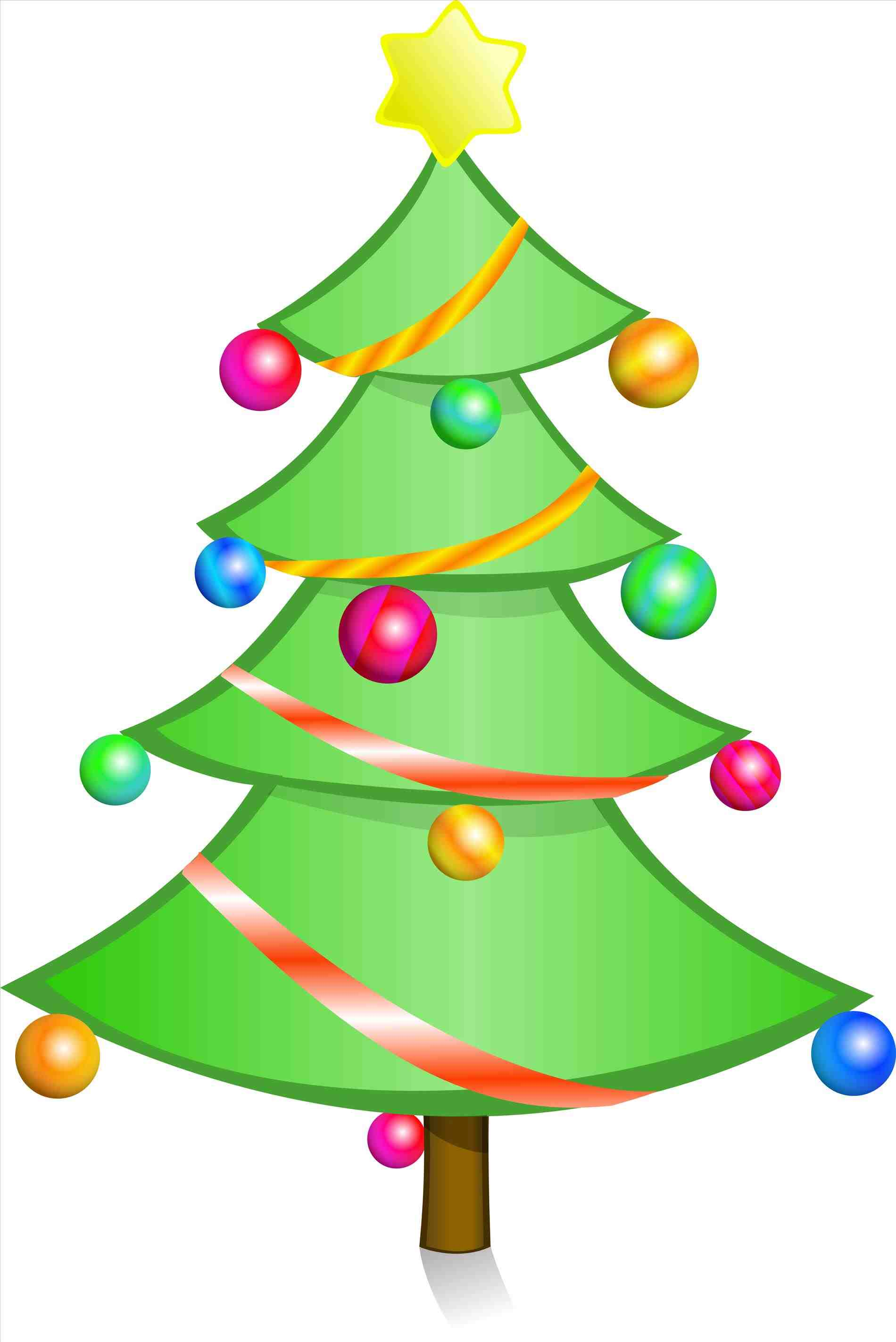 1900x2846 Tree Modern Christmas Clip Art