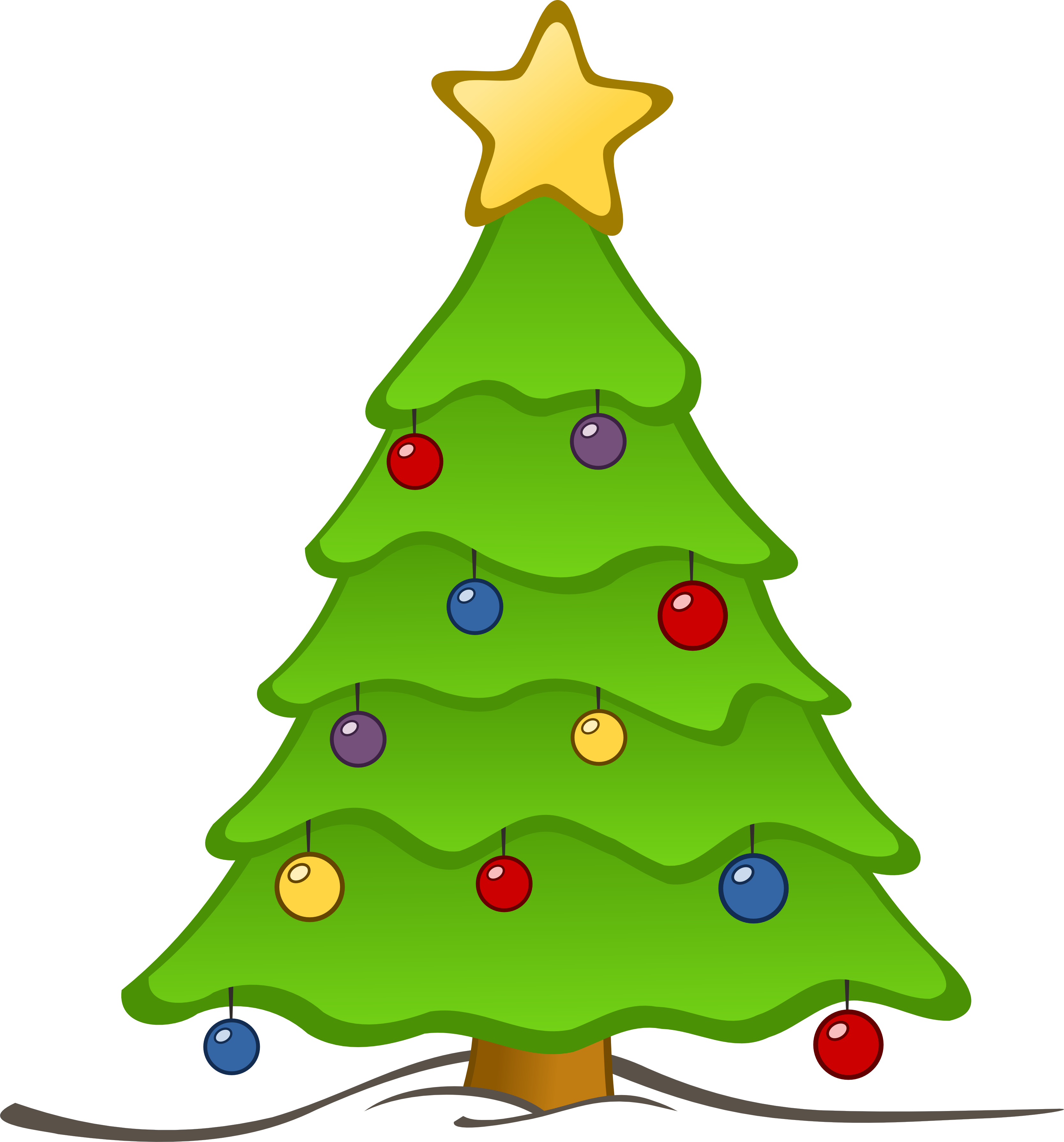 3333x3575 Christmas tree clip art free clipart images